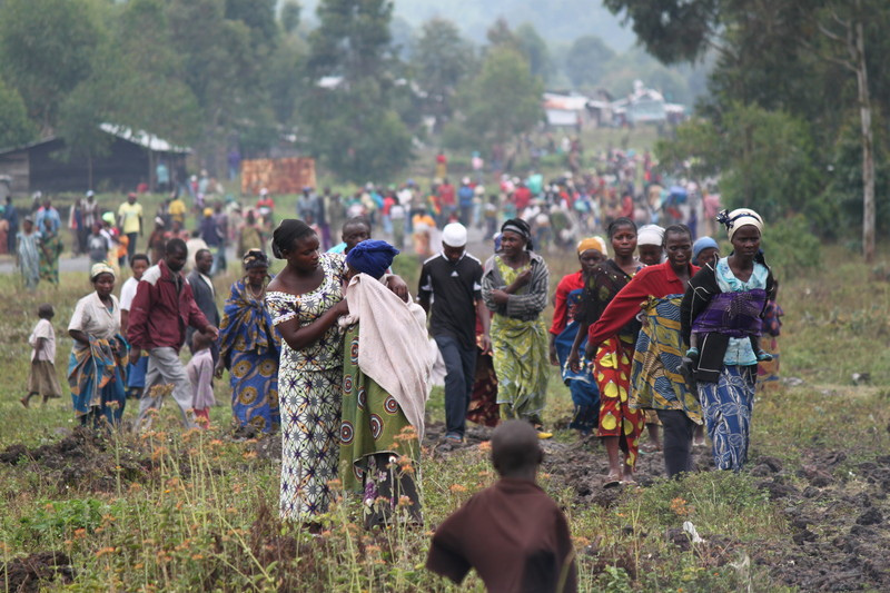 People fleeing fighting in Eastern Democratic Republic of Congo. Marie Cacace/Oxfam