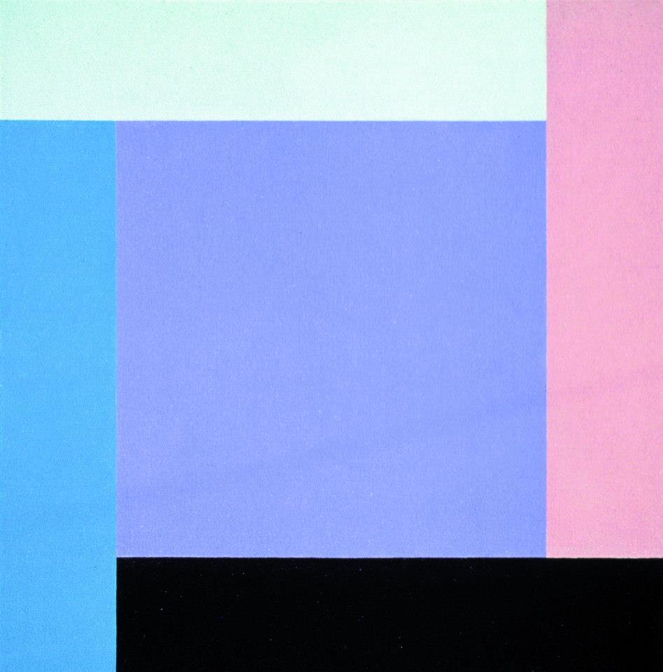 III - Nacho Ruiz. Composición nº 5. Polvo reflectante y acrílico sobre tabla. 150x150