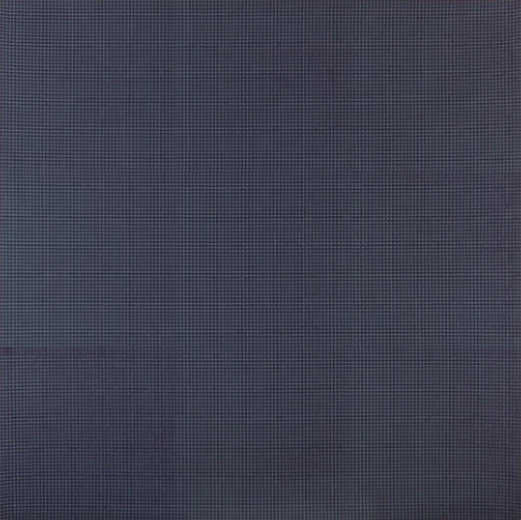 IV - Oliver Johnson Colour Composition no. 5, Green Over purple. Acrílico sobre tela. 150x150