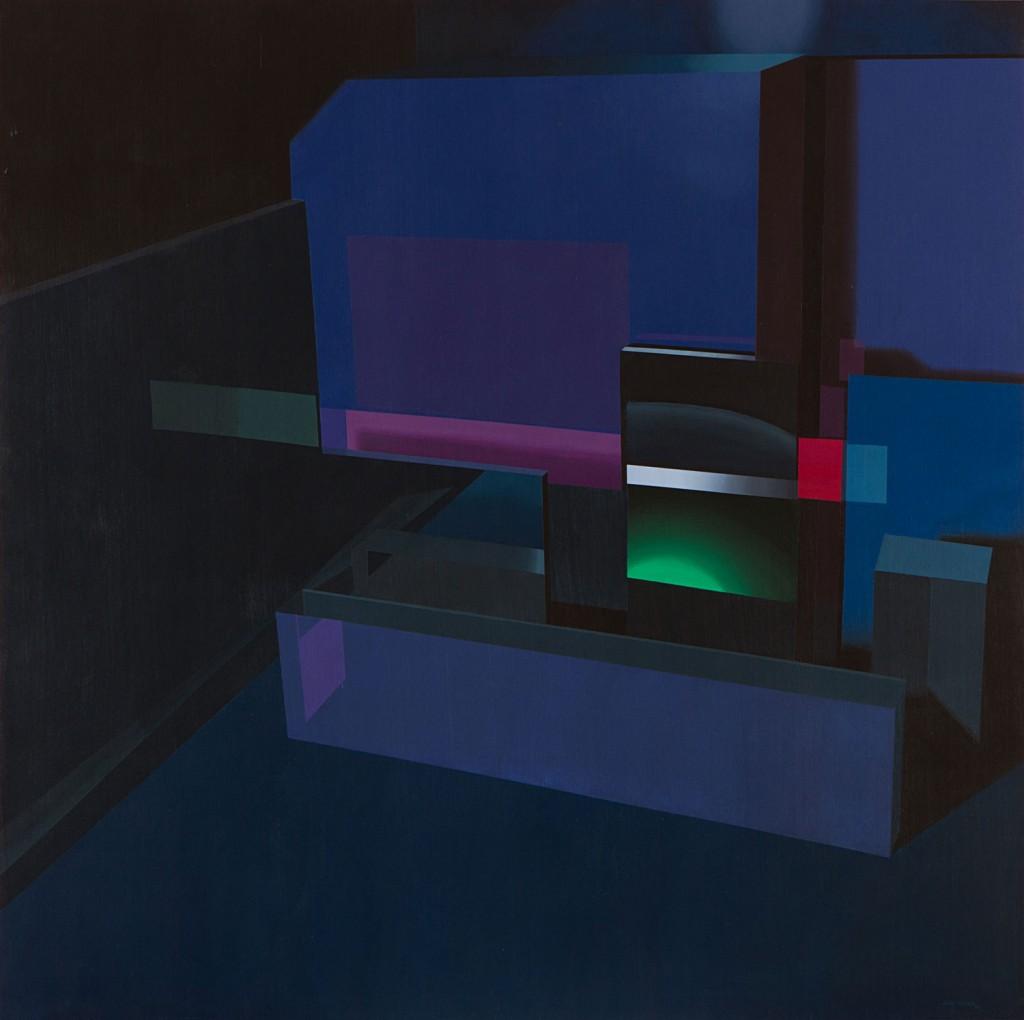 IX - David Pellicer. Pink «Cyclorama». Acrílico sobre lienzo 150x150