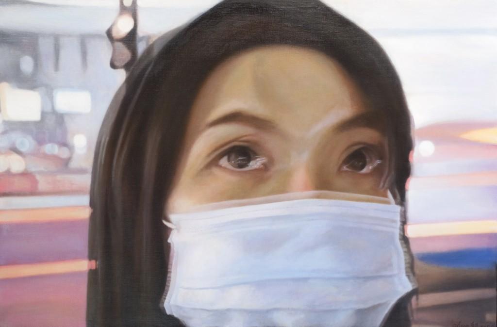 XIV - Chao Cheng-Huang. Pensar en ti Óleo sobre lienzo. 97x145,5