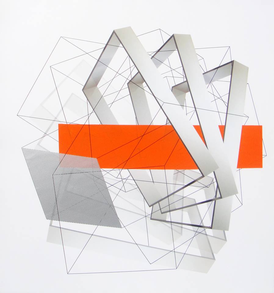XVI - Carolina Valls. Arquitectura efímera XVI. Técnica mixta sobre lona. 150x140