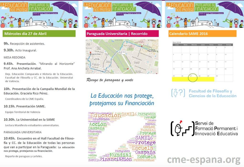 Programa de actos SAME en Valencia.