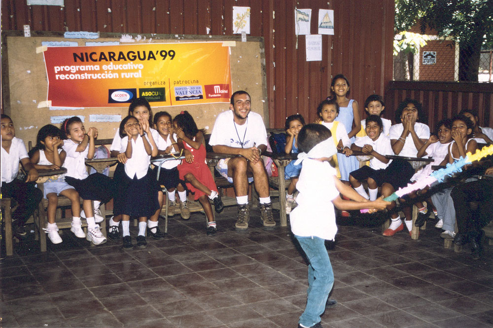 One of Mainel's first education projects in Nicaragua.